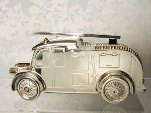 Skarbonka posrebrzana - wóz strażacki