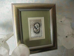 Obrazek srebrny - Matka Boża z Dzieciątkiem