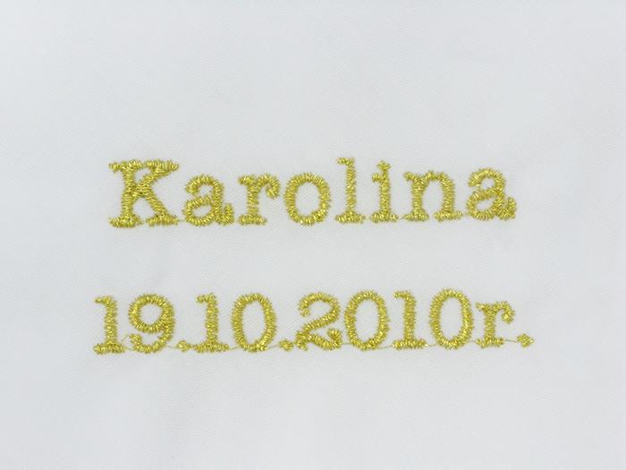 Haft przykładowy - Karolina