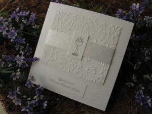 Zaproszenie wykonane ręcznierozm. 13,5x13,5 cm
