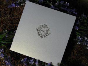 Zaproszenie ze srebrnym nadrukiem