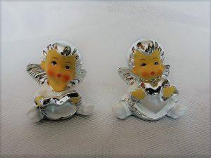 Posrebrzane figurki aniołków