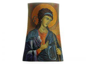 Archanioł Michał - malowany na drewnie
