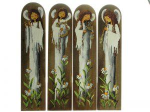 Anioł malowany na drewnie - różne wzory