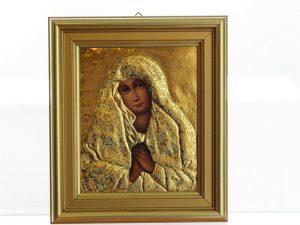 Matka Boska Sobieskiego - ręcznie malowana, koszulka złocona