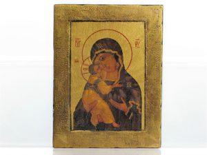 Ikona na drewnie