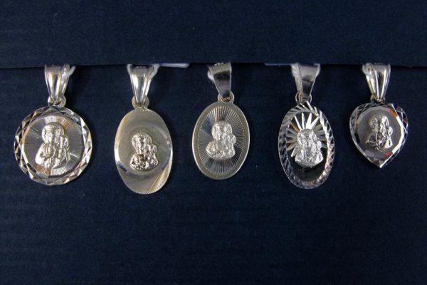 Medaliki srebrne - Matka Boska Częstochowska
