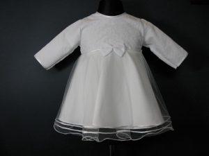 Sukienka do ChrztuW komplecie z kapelusikiem