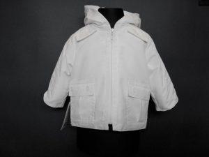 Kurteczka chłopięca z kapturem, ocieplanakolor: biały
