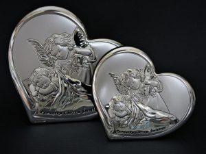 Obrazek posrebrzany - Anioł Stróż