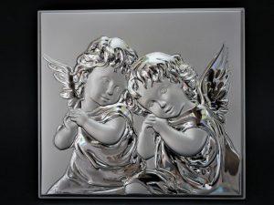 Obrazek posrebrzany - Dwa Aniołki