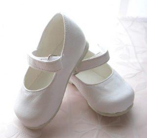 Buty dziewczęce do Chrztu - skóra eko