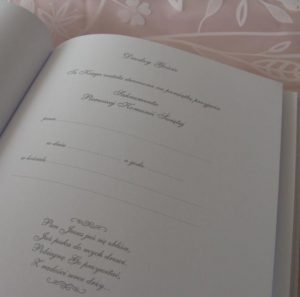 Księga Gości - pierwsza strona